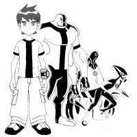 Disegno di Ben 10 Cartoon da colorare per bambini ...