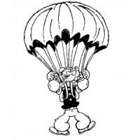 Disegno di Braccio di Ferro col Paracadute da colorare per ...