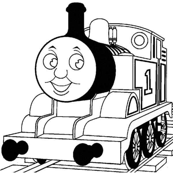 Disegno di Trenino Thomas da colorare per bambini