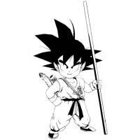 Disegno di Goku Dragon Ball da colorare per bambini ...