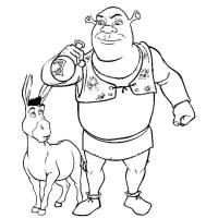 Disegno di Shrek e Asino Ciuchino da colorare per bambini ...