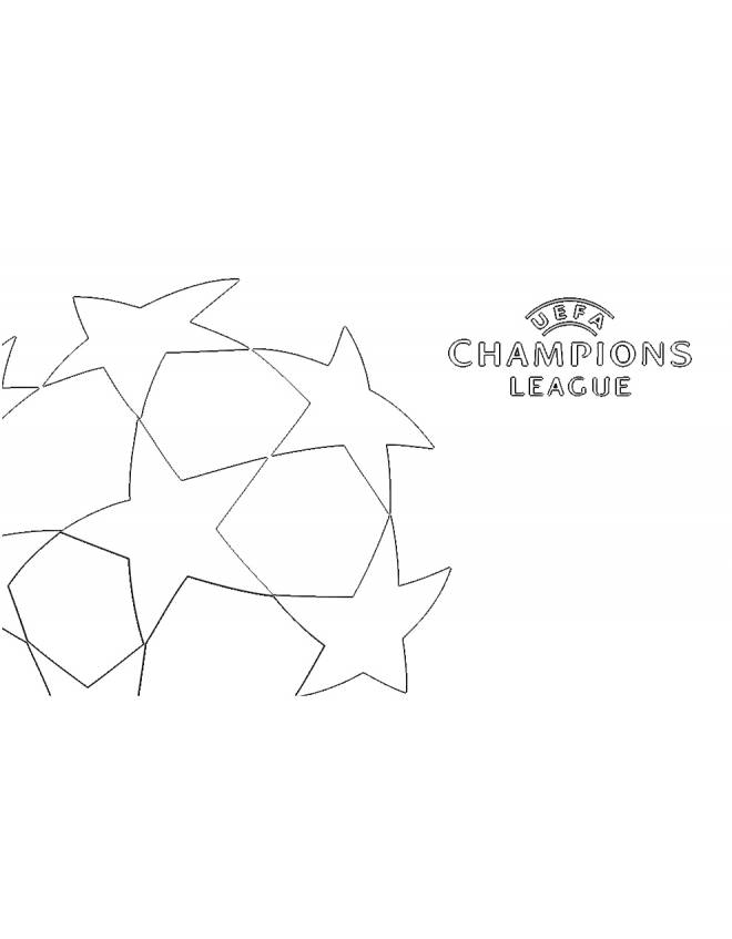 Uefa Colouring Pages Sketch Coloring Page