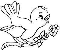 Stampa disegno di Uccelli in Primavera da colorare