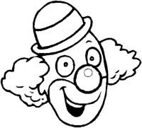 Stampa disegno di Clown da colorare