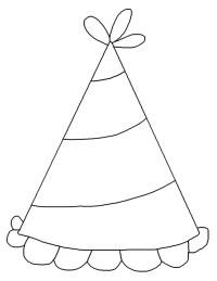 Stampa disegno di Cappellino per Feste da colorare