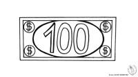 Stampa disegno di Banconota Dollari da colorare