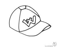 Stampa disegno di Cappellino da colorare