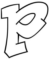 Stampa disegno di Lettera p da colorare
