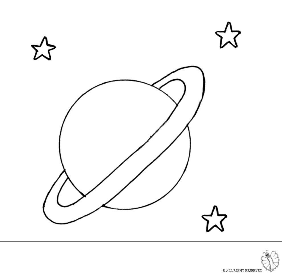 Stampa disegno di Saturno da colorare