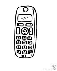 Telefono Cellulare Da Colorare