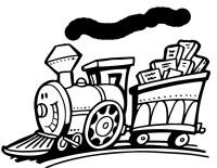Stampa disegno di Treno con Sorriso da colorare