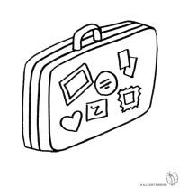 Stampa disegno di Valigia da colorare