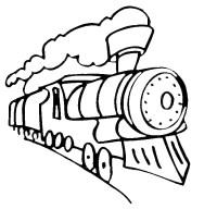Stampa disegno di Treno da colorare