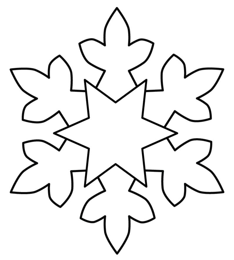 Stampa disegno di Fiocco di Neve da colorare