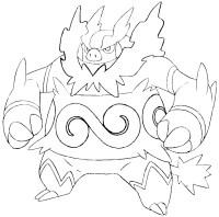 Stampa disegno di Emboar Pokemon da colorare