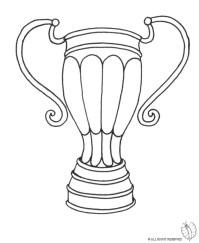 Stampa disegno di Trofeo da colorare
