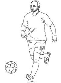 Stampa disegno di Rooney da colorare