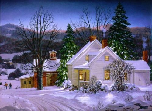 Immagini di Natale  Paesaggio Innevato