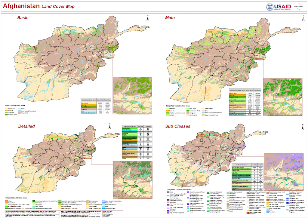 Afghanistan: Land Cover Map | iMMAP