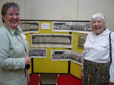 004 Sheila & Marion examining the displays