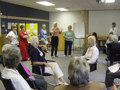 11 Member from each group recounts a story.