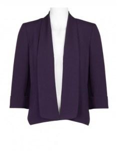 Evan picone shawl lapel collar cuffed sleeve open front crepe jacket also brands wholesale women   apparel womens rh immediateapparel