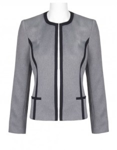 Evan picone crew neck long sleeve banded open front tweed jacket also brands wholesale women   apparel womens rh immediateapparel