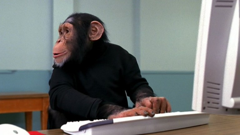 Chimps and Monkeys Skipping Straight From Stone Age to Information Age