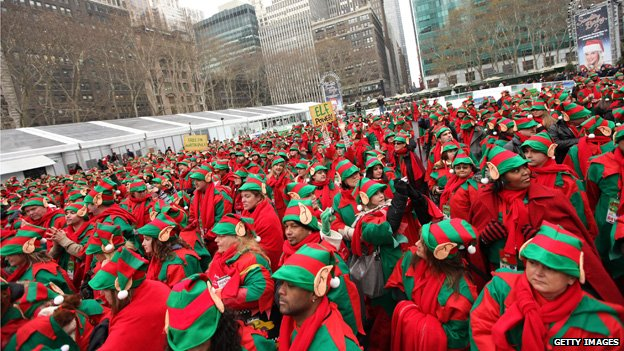 Mall Elves Protest Unfair Wages, Working Conditions