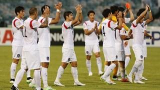teamfoto voor South Korea