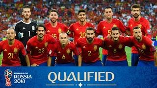 teamfoto voor Spain