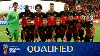 teamfoto voor Belgium