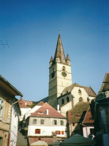 Sibiu - old town view