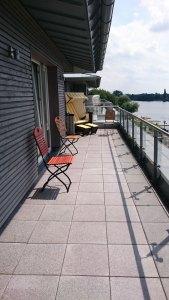 Terasse des River Side Hotel Nordhorn