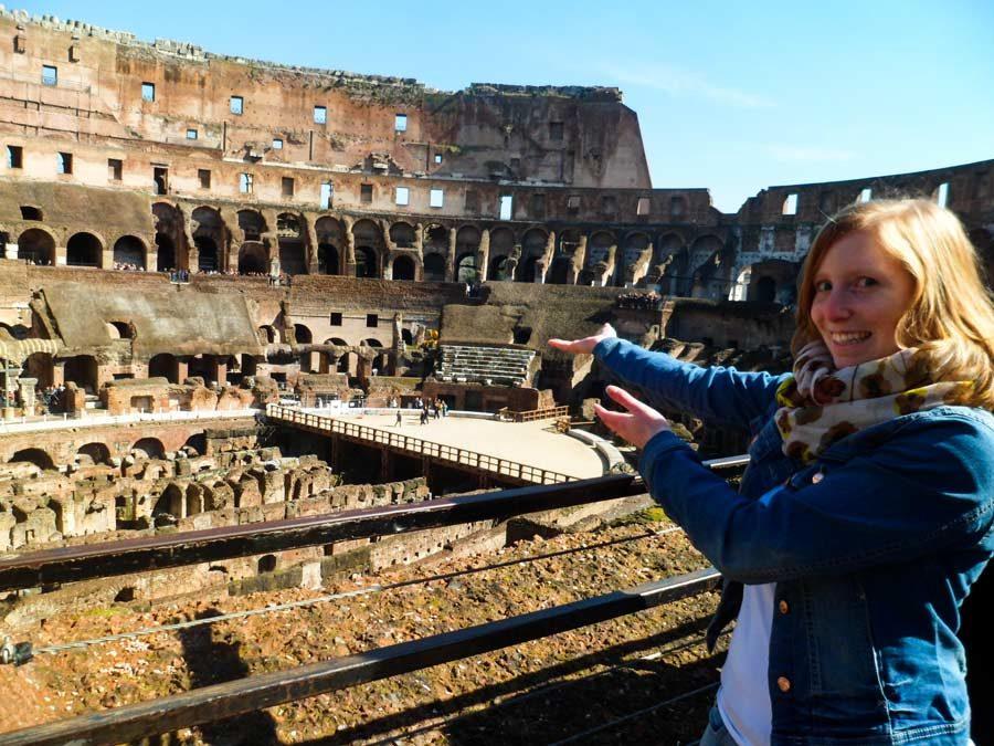 Anna immer unterwegs in Rom