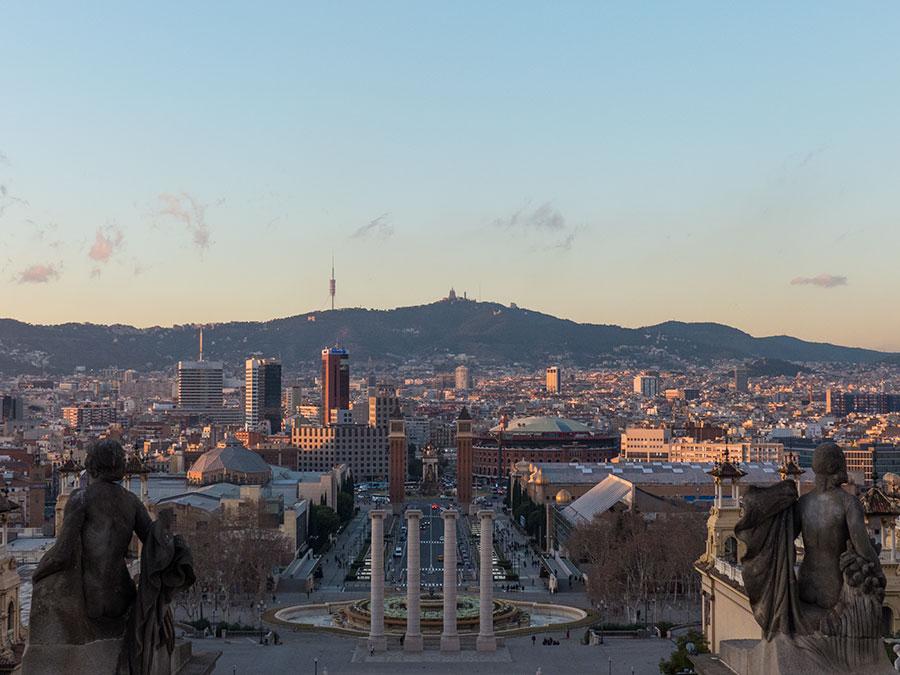 Ausblick über Barcelona vom katalanischen Kunstmuseum