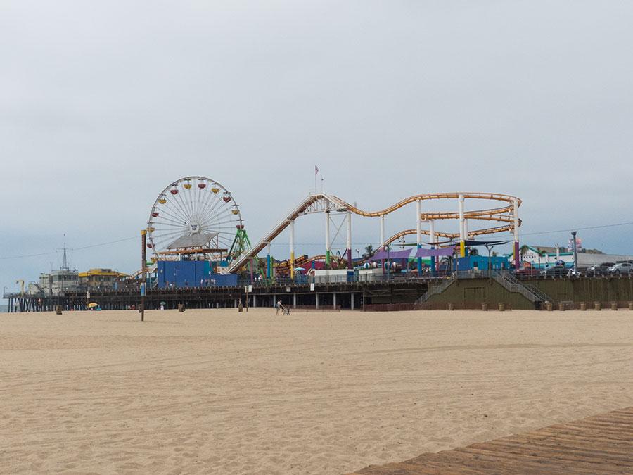 Santa Monica Pier Strandansicht