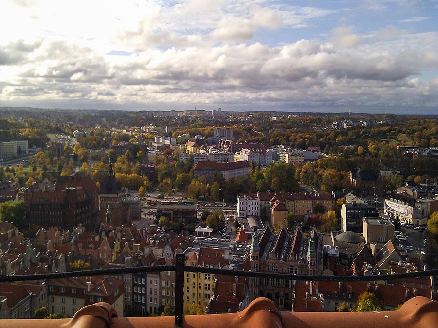 Danzig Highlights Aussicht von der Marienkirche