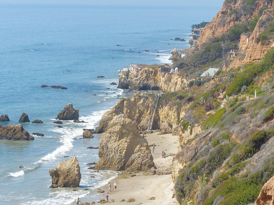 Highway 1 El Matador Beach Klippen