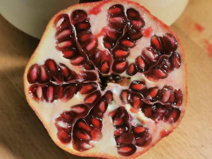 La cheesecake degli innamorati di ImmersioneinCucina, il melograno ingrediente principale.