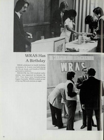 WRAS birthday 1975