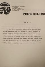 WRAS press release 1974
