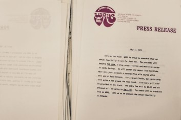 WRAS Road Rally press release 1974