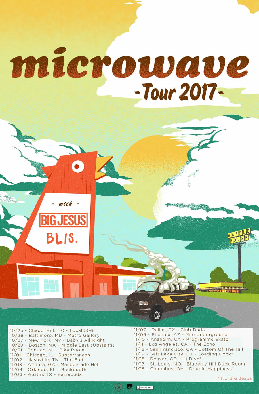 Microwave Fall Tour Poster
