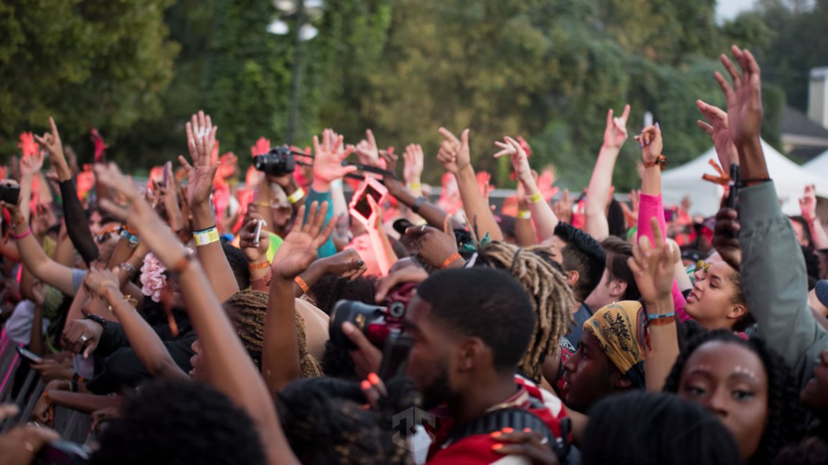 AFROPUNK Crowd Getting Hype