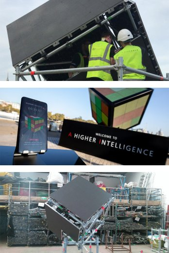 Huawei interactive Rubik's cube by Immersive AV