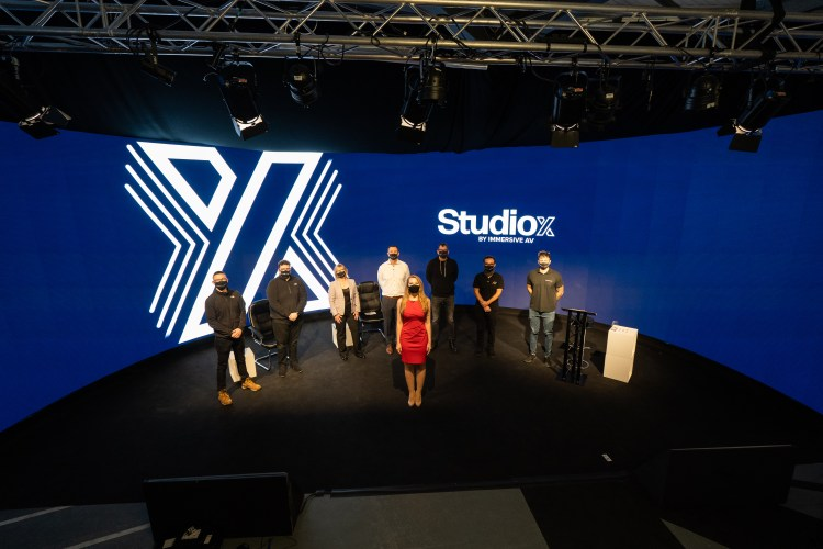 StudioX launch team on stage