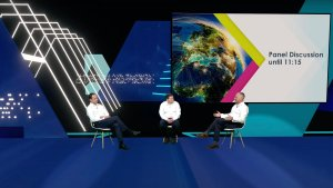 Thales virtual conference virtual set and green screen filming studios by Immersive AV
