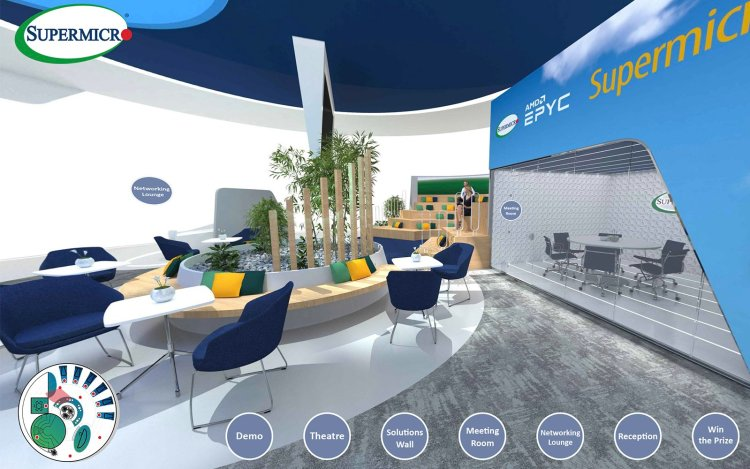 Virtual event production services for Supermicro from Immersive AV