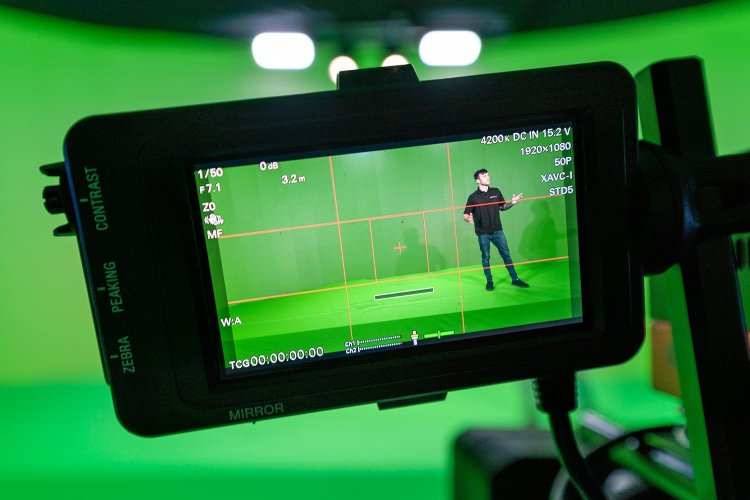 An insight into the green screen filming studios from Immersive AV